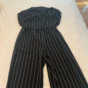 Black and white pants romper